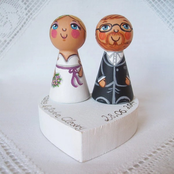Personalized Cake Topper Wedding