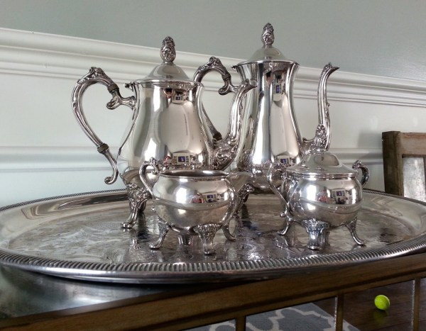 Newport Gorham Silver-plate Tea Set Silver Coffee