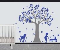 Vinyl tree wall design - Deer Owl Nursery playroom art ...