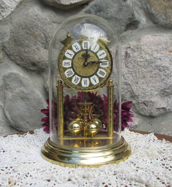 Haller Anniversary Clock Withglass Dome In 2sisterspicks