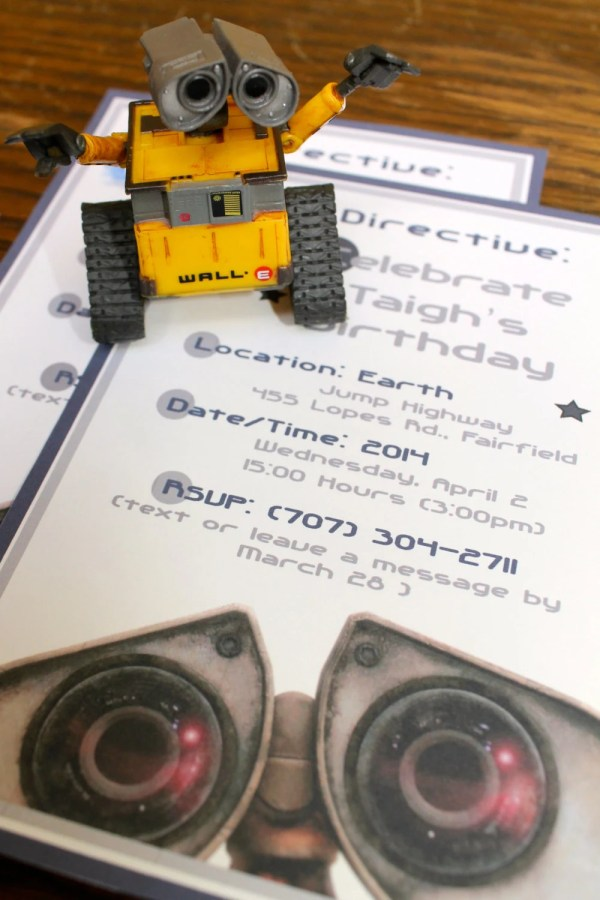 Walle Birthday Party Invitations Custom Printable