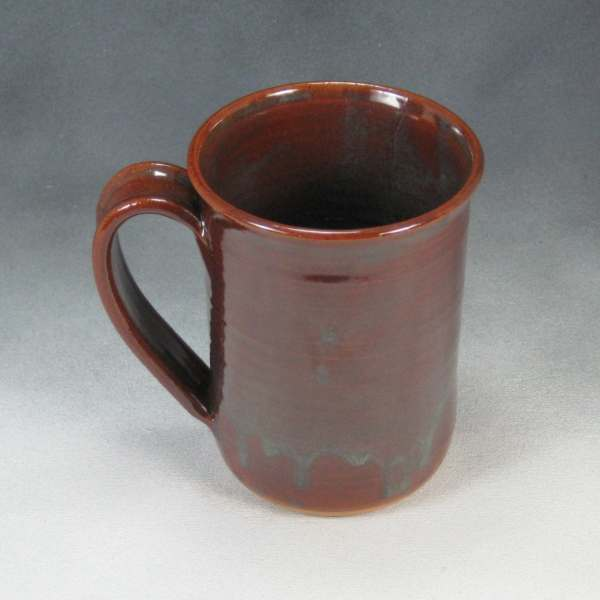 14 16 Ounce Brown Green Ceramic Coffee Mug by PhenixPottery