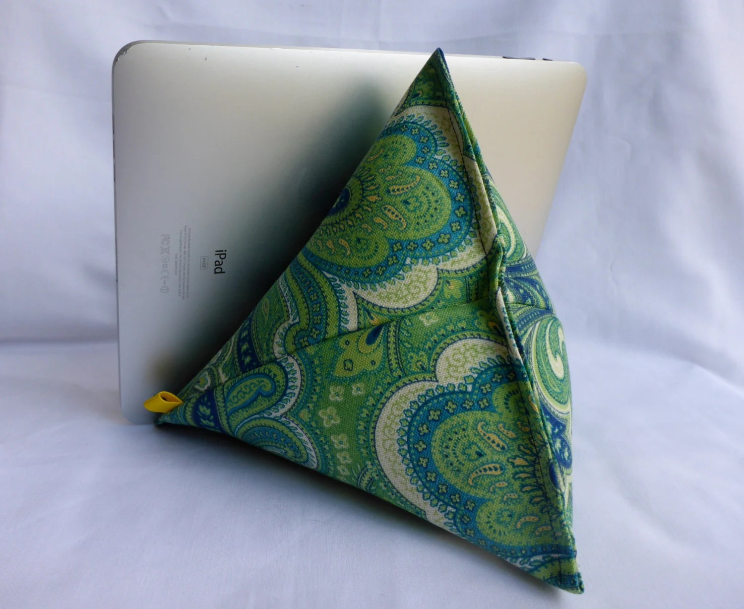 iPad  Kindle Lap Pillow Stand Bean Bag Stand  Teal Green