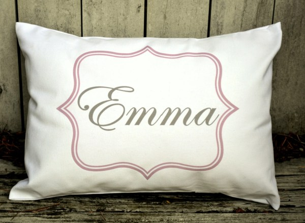 Baby Girl Personalized Pillow