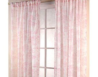 Pink And Grey Chevron Curtain Etsy