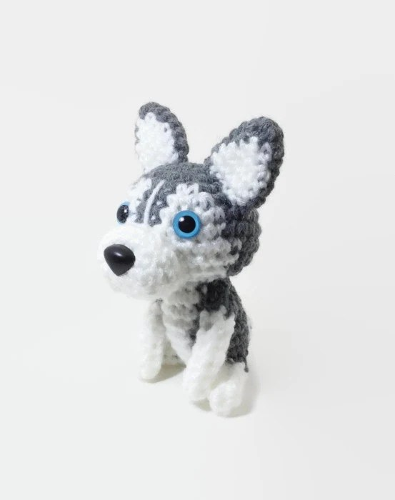 Siberian Husky Puppy Plush Crochet Dog Doll Amigurumi Dog