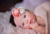 Petite peach and creams headband for baby-newborn-toddler-child-girl-teen-adult