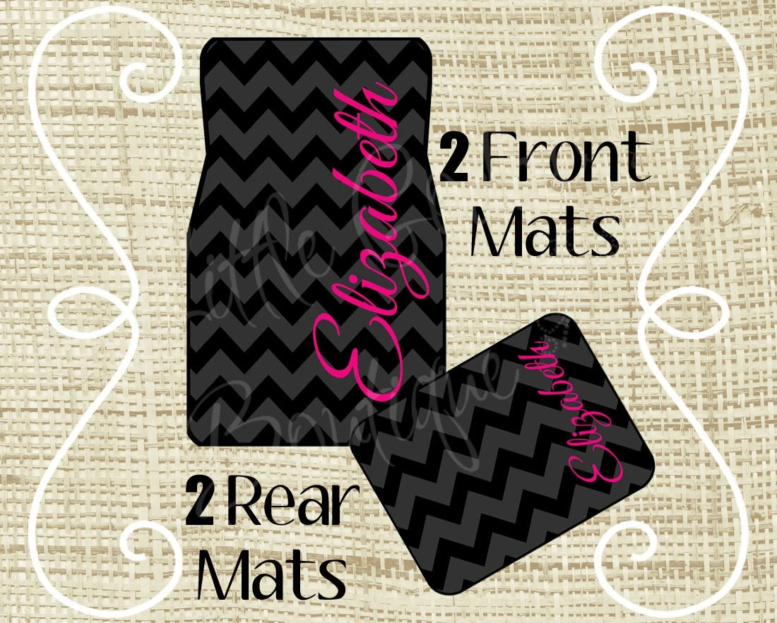 Personalized Car Mats Car Mats Custom Car Mat Monogram Car