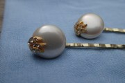 vintage faux pearl bobby pins hair