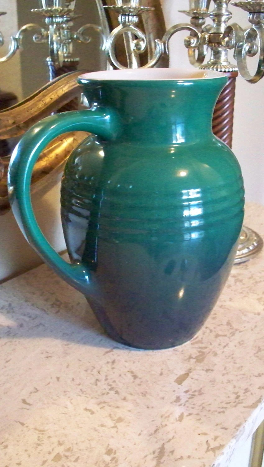 Cactus Green Le Creuset French Made Stoneware Pitcher Kitchen