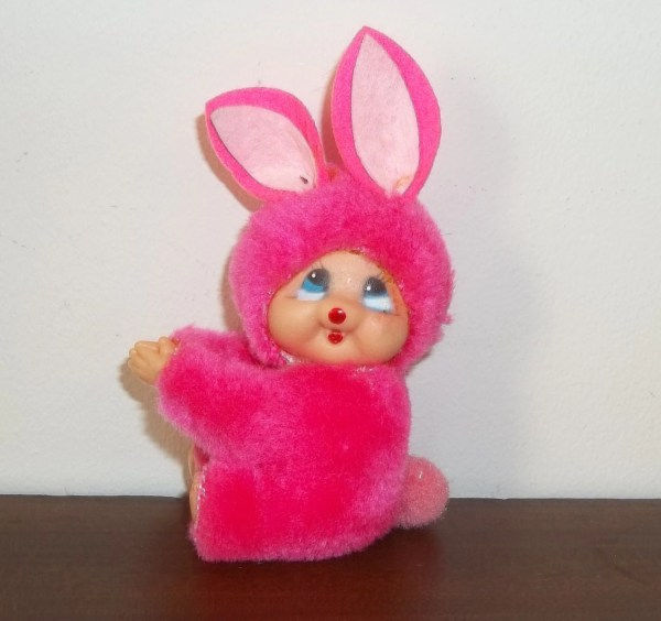 80' Clip Easter Bunny Pink Plush Gripper