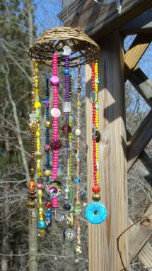 Beaded Wind Chime Hanging