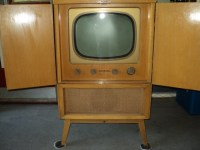 Mid Century Modern Television Cabinet A Solid Blond Wood