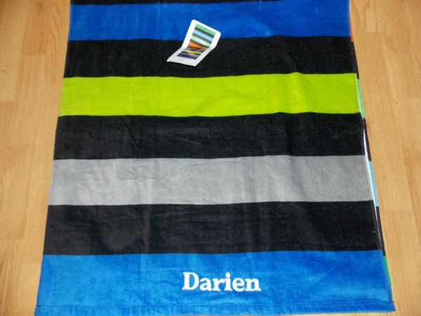 Ombre Personalized Beach Towel