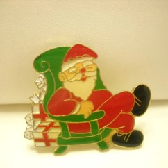 Santa Claus Chair Gray Kitchen Table And Chairs Vintage In Pin 1731 Gold Tone Enamel