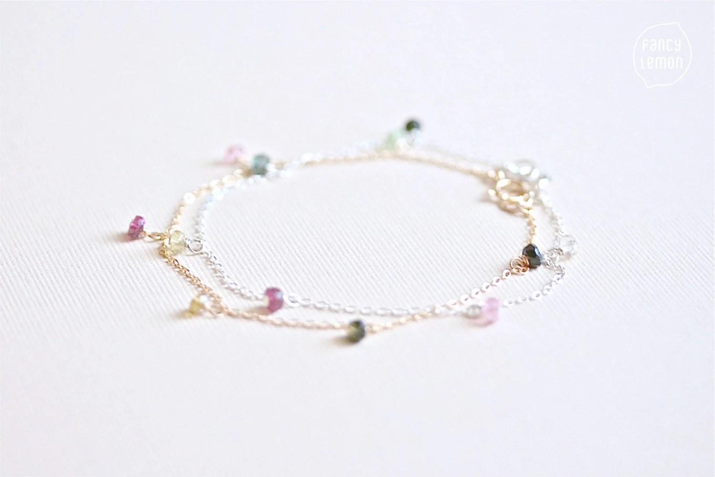 Items similar to SALE tourmaline sprinkles bracelet on Etsy