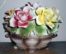 Vintage Capodimonte Centerpiece In Italy Porcelain