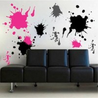 Ink splash wall decals teenagers wall stickers removable