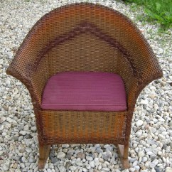 Vintage Wicker Rocking Chair Cosco Folding Chairs Antique Childs 1920 39s