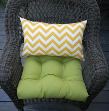 Indoor Outdoor Wicker Cushion And Rectangle Lumbar Pillow