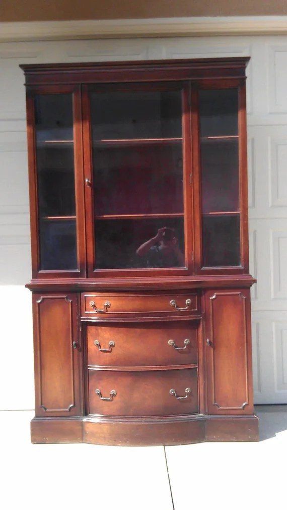 SOLD SOLD Antique China Cabinet Hepplewhite French Cottage