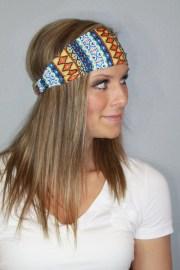 aztec tribal boho headband hair