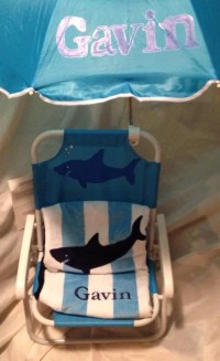 Items similar to Personalized kids beach chair with ...