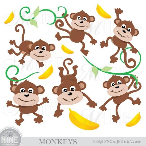 monkeys clip art monkey clipart