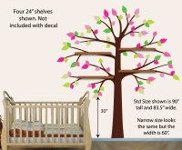White Shelf Tree Wall Decals Tree Decals For NurseryTree