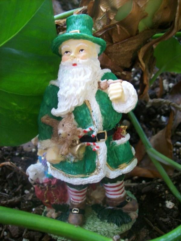Irish Father Christmas Santa Claus Figurine Tigergirlcrafts