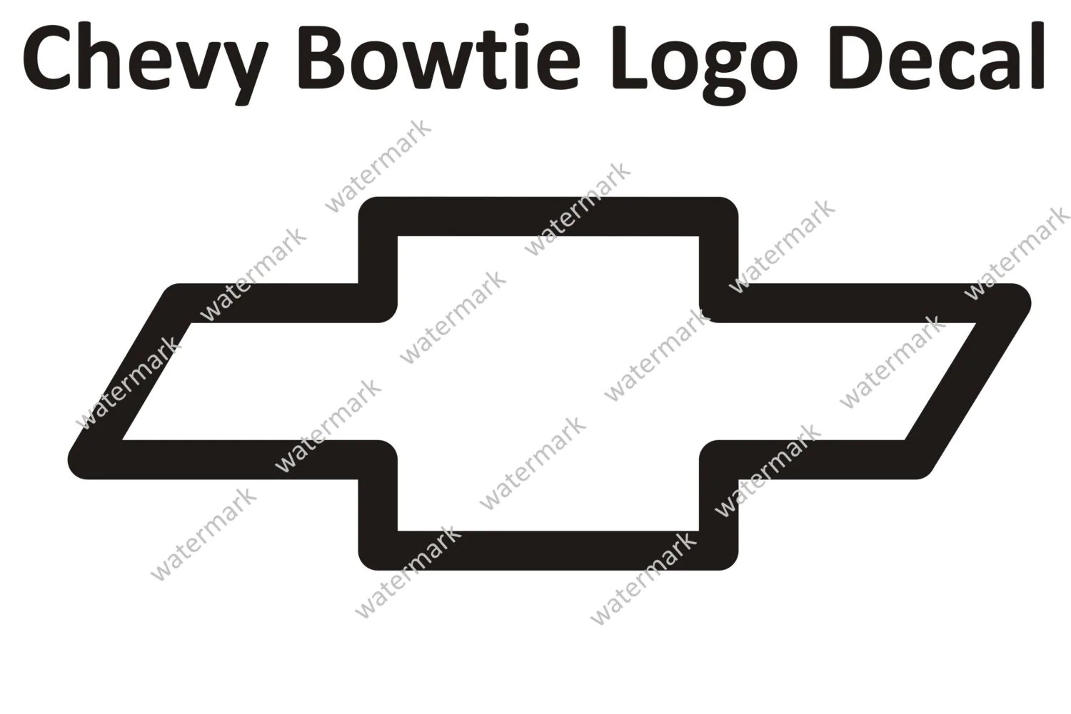 Chevy Chevrolet Bowtie Logo Decal Sticker Large By Robnmon