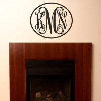 Items similar to Monogram Initials Wall Decal - Fancy Wall ...