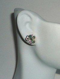 Genuine Natural Alexandrite Earrings Sterling Silver .925 With