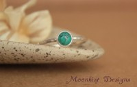 Delicate Turquoise Promise Ring Unique Bezel-Set Turquoise