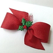christmas dog hair bows