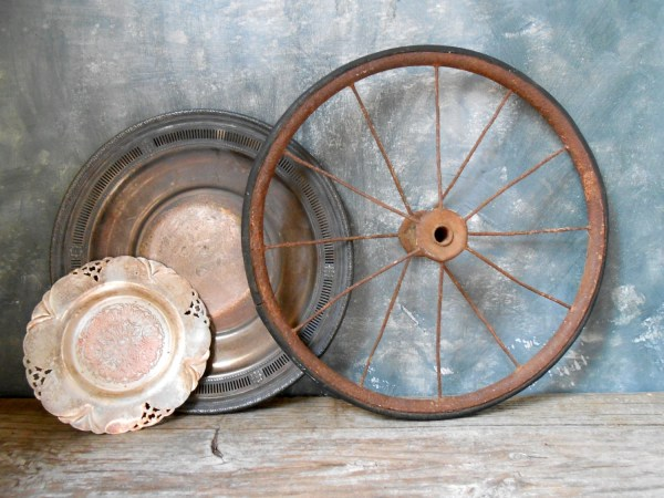 Antique Metal Carts with Wheels