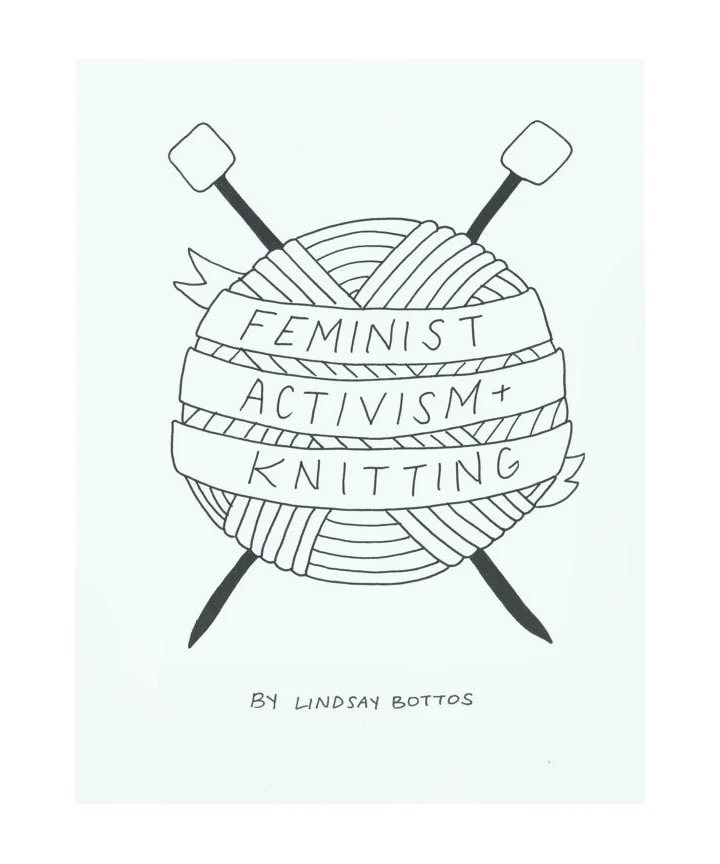 INSTANT DOWNLOAD Feminist Activism Knitting Zine