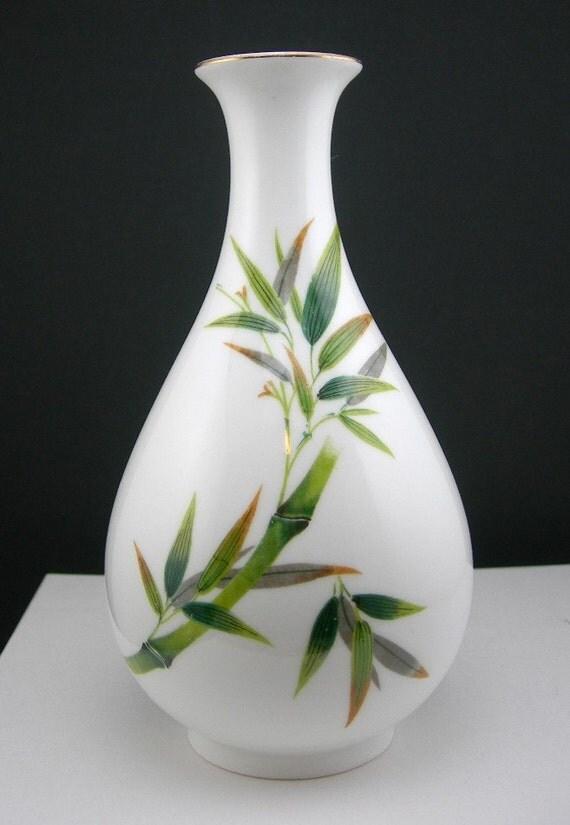 Noritake Bamboo Vase Bone China Nippon Toki Kaisha 7