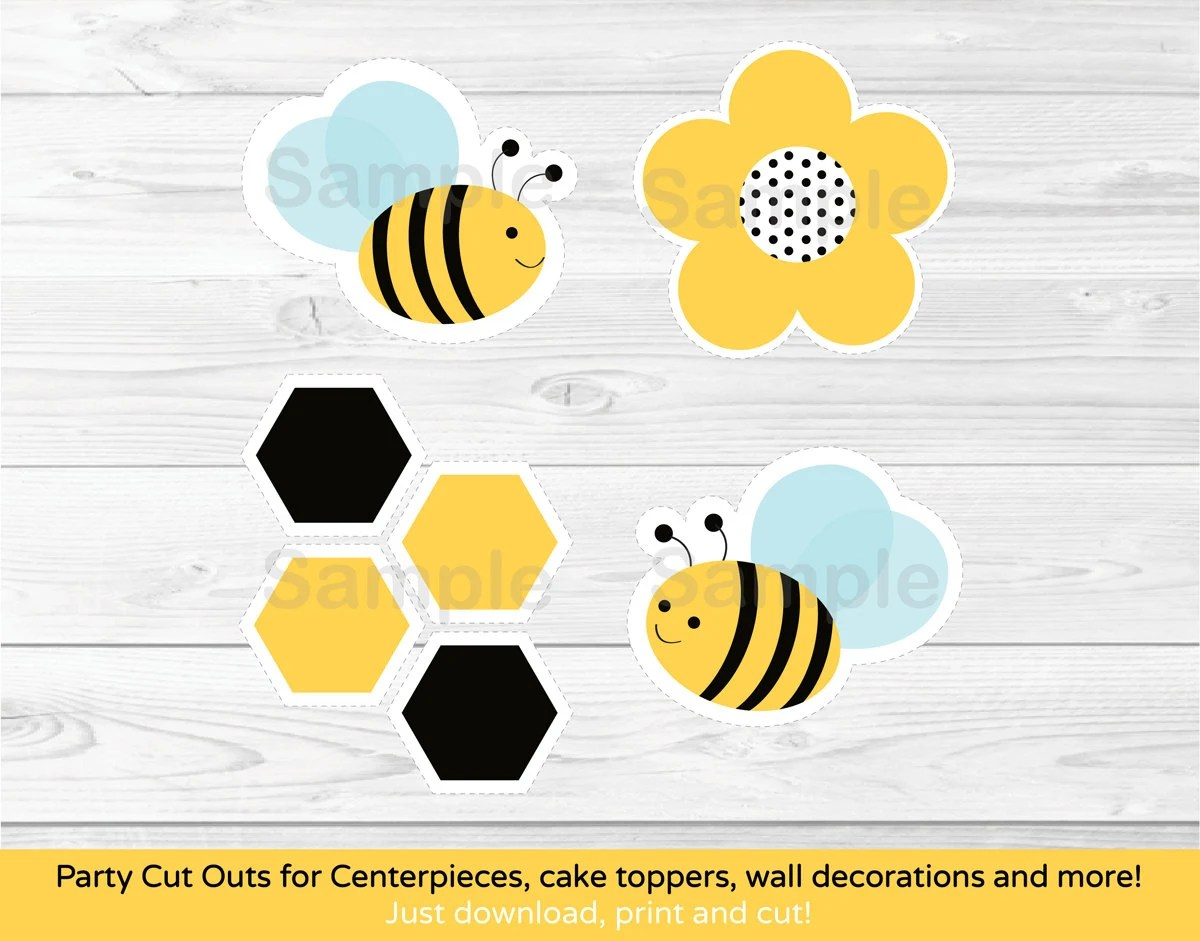 Bumble Bee Cut Out Worksheet