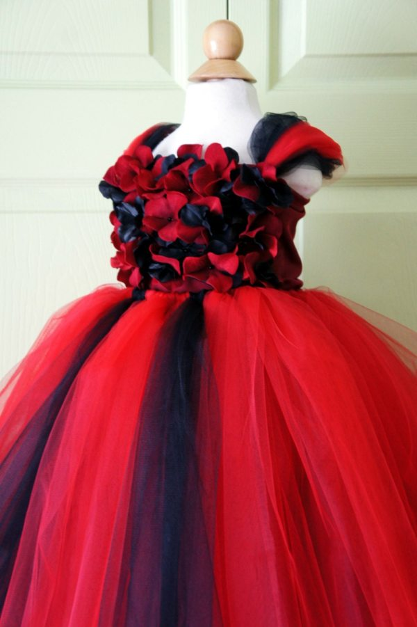 Flower Girl Dress Red And Black Tutu
