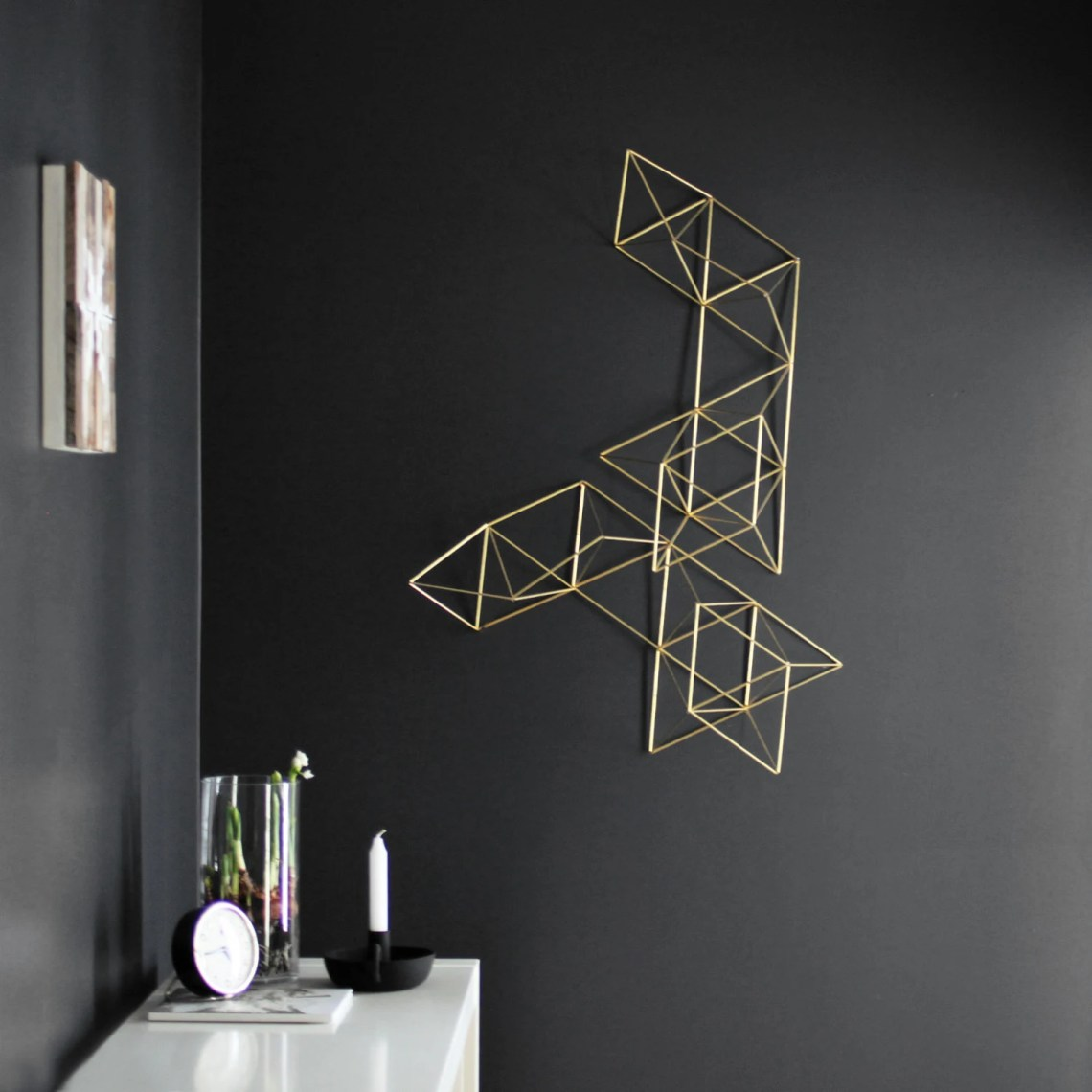 Large Brass Abstract Himmeli no. 1 / Wall Sculpture ...