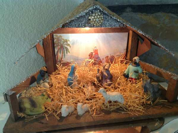 Vintage Lighted Nativity Set Fashioned Christmas Religious