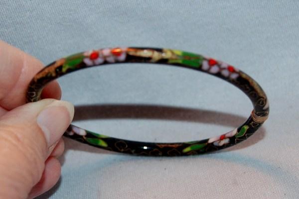 Vintage Bracelet Cloisonne Bangle Americanhomestead