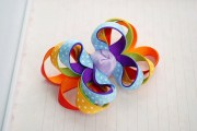rainbow hair bow colorful