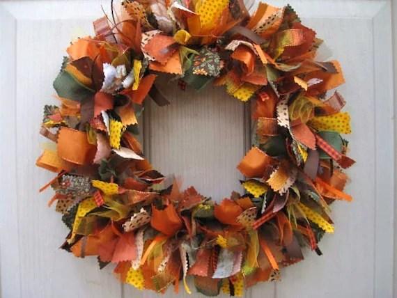 Fall Wreath Ribbon Wreath for Fall Decor Autumn Front Door