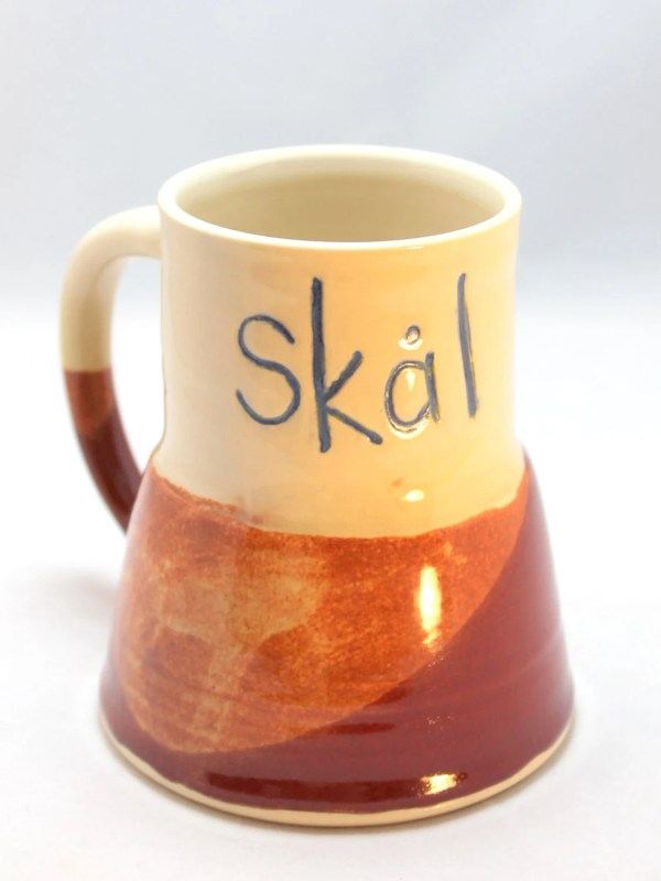 Skal Mug Beer Stein Ceramic Coffee Wide Base