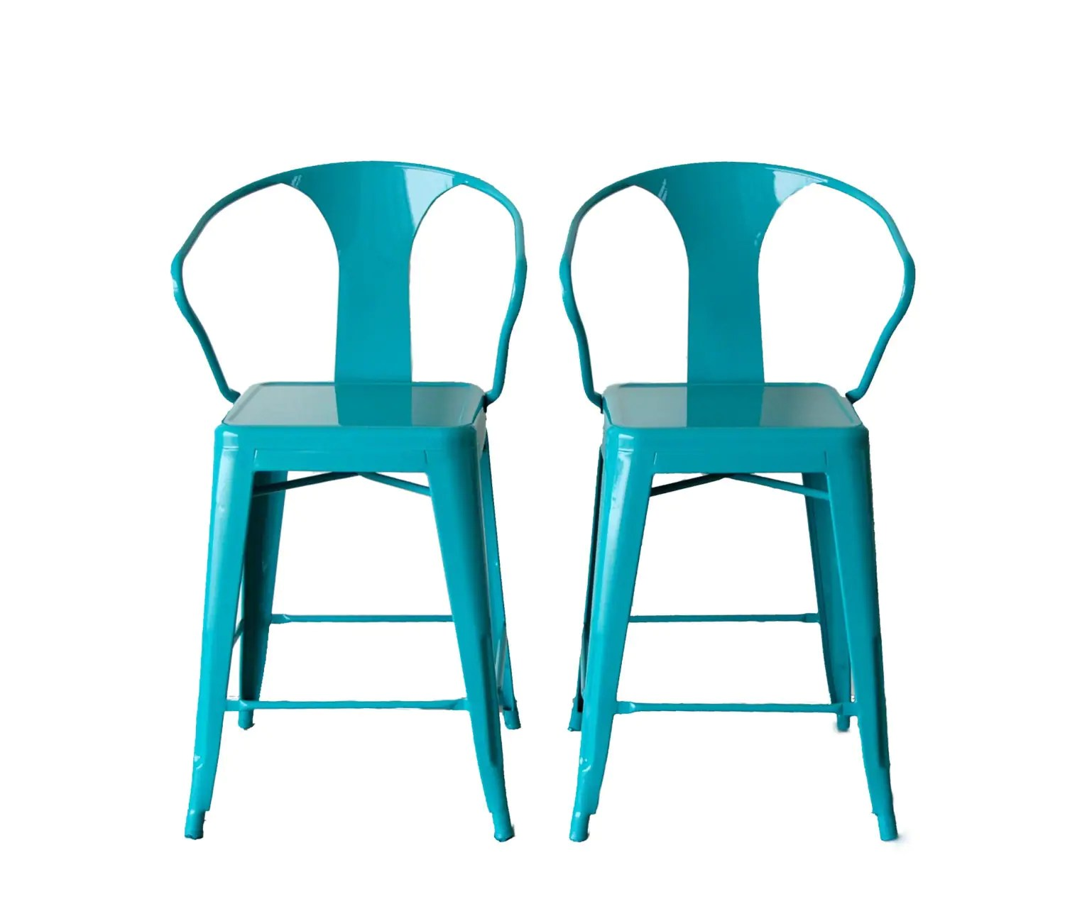 tolix style chair lowes adirondack plans custom painted arm counter stool in 24