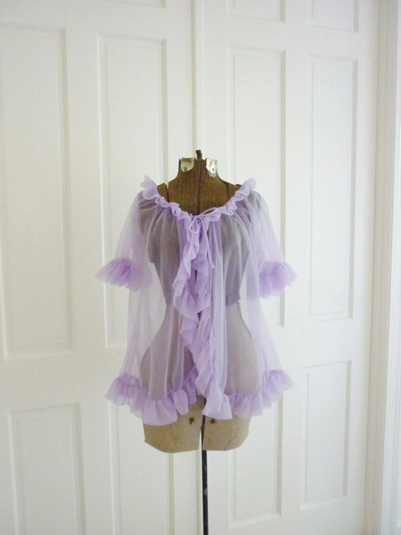 Vintage Lavender Baby Doll Nightie