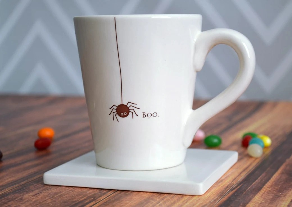 boo spider halloween coffee mug