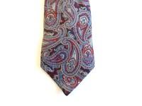 Paisley Silk Necktie  Dark Blue With Large Paisleys ...